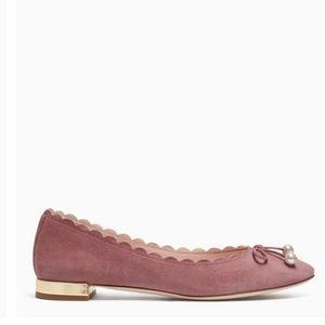 kate spade Shoes - Kate Spade New York Pink Scalloped Murray Flat